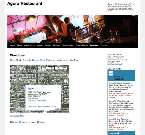Agora Restaurant - Location map