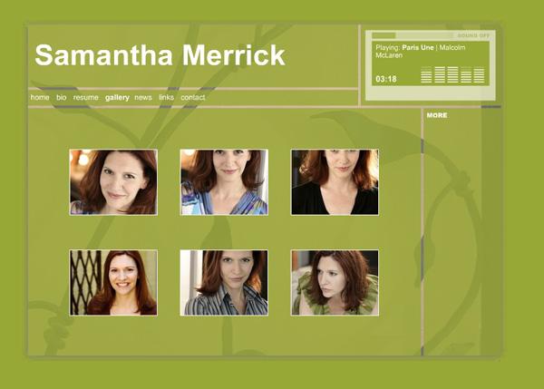 Samanta Merrick, Actor - Photo Gallery