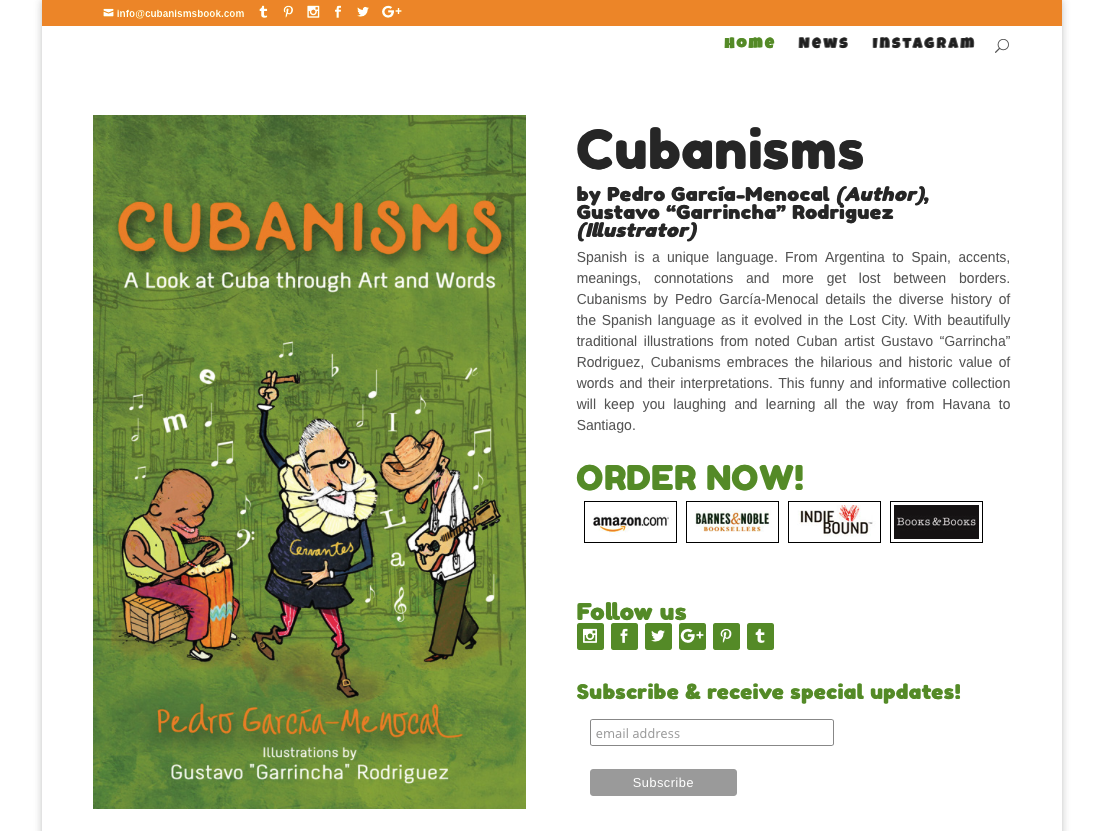 Cubanisms Book Website