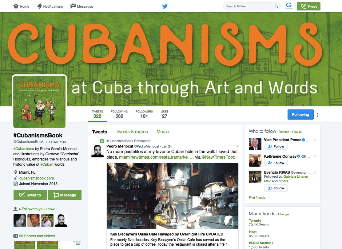 Cubanisms Book on Twitter