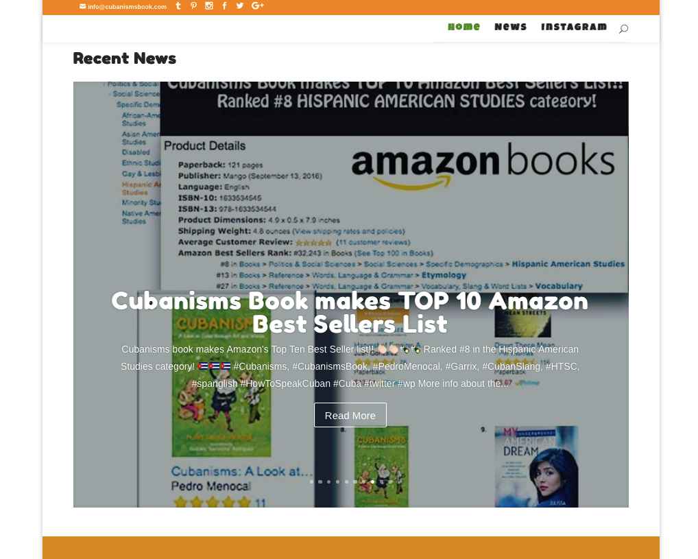 Cubanisms Book makes Amazon's Top 10 list